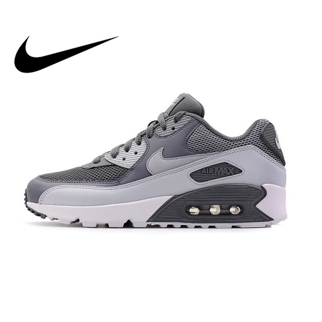 Original de los hombres NIKE AIR MAX 90 esencial transpirable zapatillas de deporte Zapatillas de deporte al aire libre cómodo 537384-073