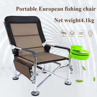 Removable sponge pad fishing chair bearing 200KG reclining armrest multifunctional folding fishing chair bench fishing stool