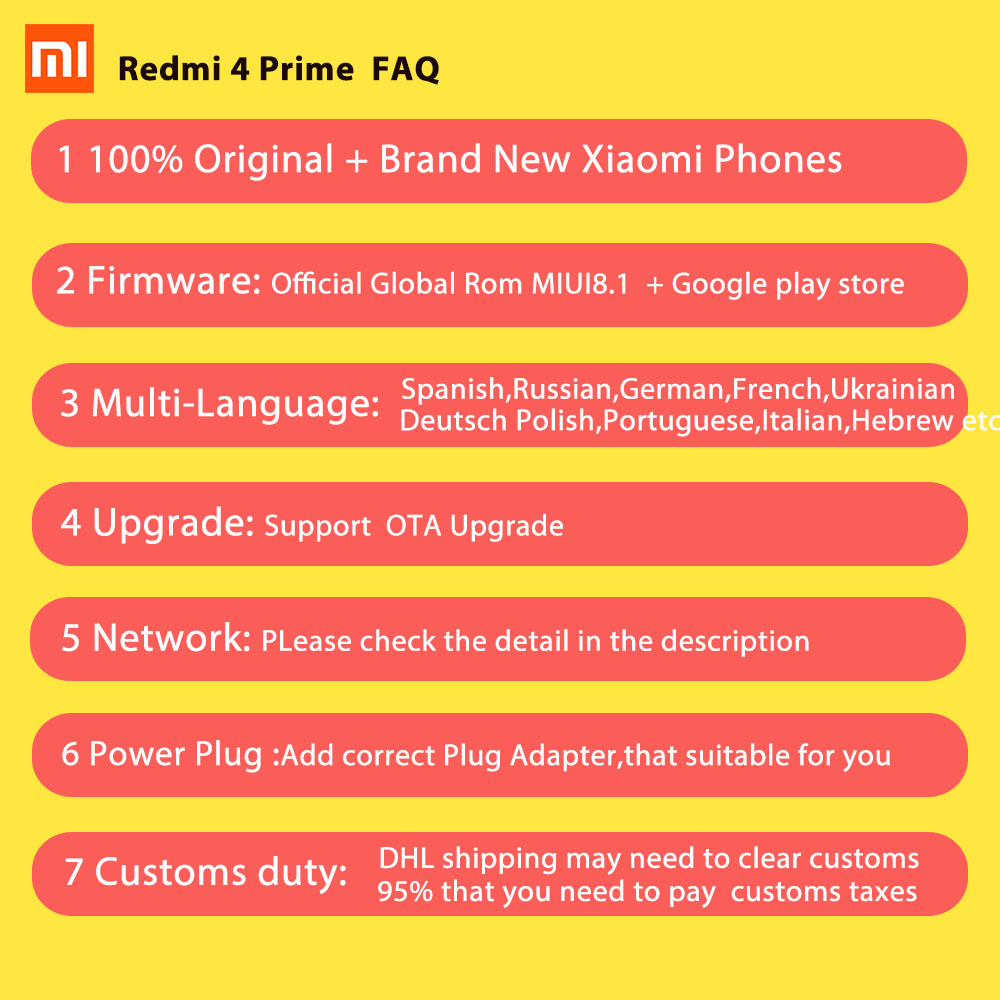 Original Xiaomi Redmi 4 Pro 3gb Ram 32gb Rom Mobile Phone Snapdragon 6 Gold 3 625 Octa Core Cpu 50 Fhd 13mp Camera 4100mah Miui81 In Phones From Cellphones