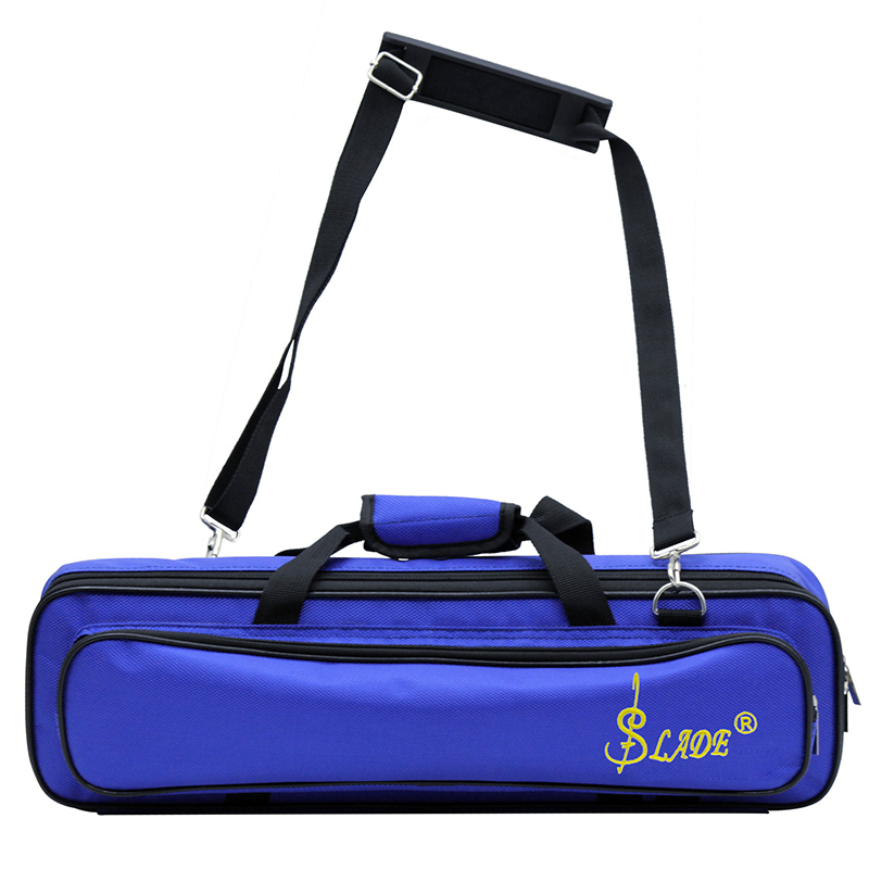 SLADE Flute Bag Double Strand Soft Flute Case Rainproof Oxford Cloth Padded with Thickened Sponge Shockproof Soft Velvet Lining