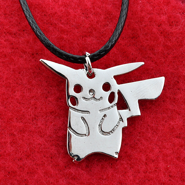 Silver Pikachu Pokemon Pendant Necklace For Women Men Pikachu Pokemon Necklace Collier