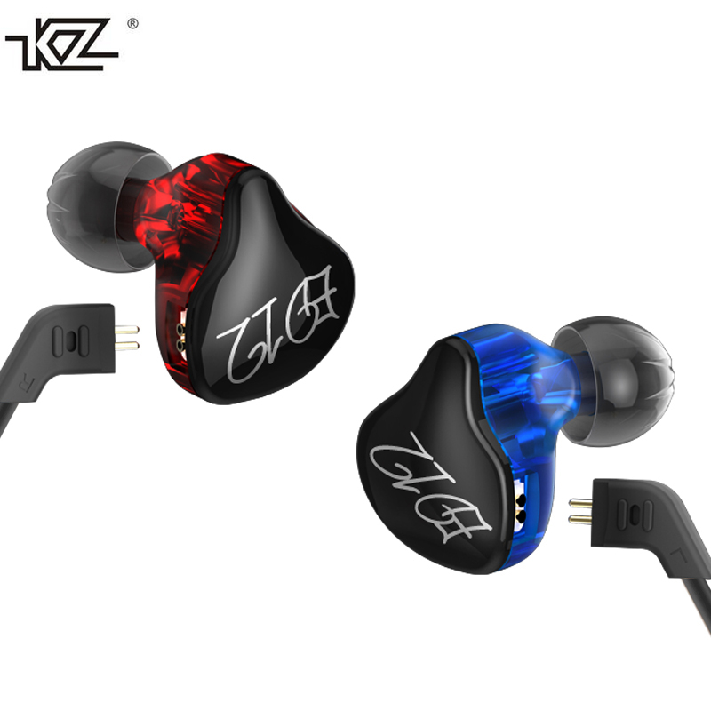 KZ ED12 Custom Style Earphone Detachable Cable In Ear Audio Monitors Noise Isolating HiFi Music Sports Earbuds With Microphone original senfer dt2 ie800 dynamic with 2ba hybrid drive in ear earphone ceramic hifi earphone earbuds with mmcx interface