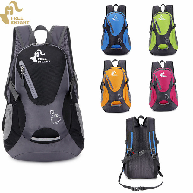 cb0e2b61da15 US $19.46 10% OFF|Free Knight 25L Portable Nylon Child Backpack Water Proof  Backpack Outdoor Cycling Climbing Camping Bag Sport Backpack-in Climbing ...