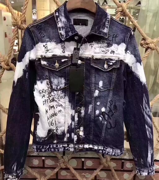 Nueva chaqueta de mezclilla para hombre de manga larga de algodón Jeans cárdigan Casual dsq chaqueta hombres Tops ropa X15-in Chaquetas from Ropa de hombre    1