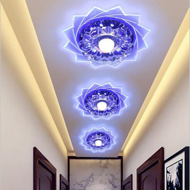 Creative LED Crystal Ceiling Light Hall Entrance Corridor Decorative lamp indoor lighting Living room night light lamps