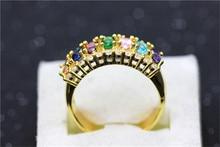 Multicolor Lesbian Fashion Charms Ring Rhinestones Crystal