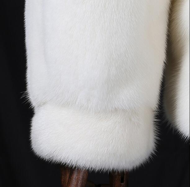 Weiße Mode mit Kapuze warme lässige Kunstfuchs Pelzmantel Herren - Herrenbekleidung - Foto 3