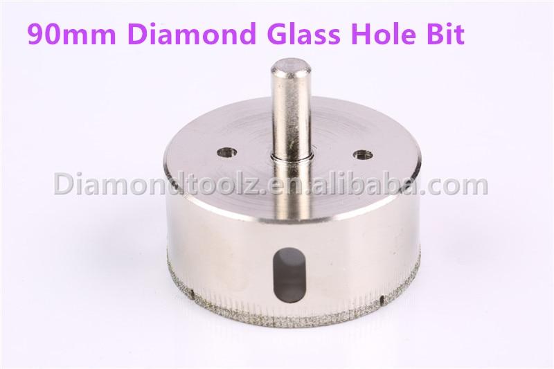 مته های سوراخ دار با روکش 90 میلی متری Talentool ، مته سوراخ سوراخ شده با الماس شیشه ای مته سوراخ دار برای آشپزخانه ، حمام ، دوش ،