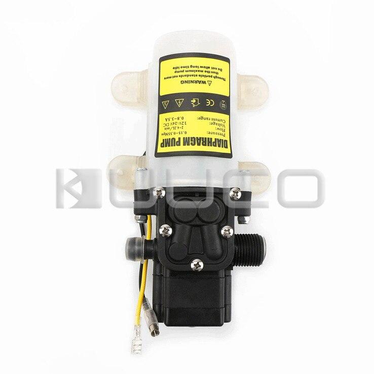 Pompe à membrane 60 W DC 12 V 5A pompe auto-amorçante Micro diaphragme électrique commutateur automatique pompe à eau haute pression
