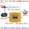 Conjunto completo de Antena 13db Yagi + Techo! 4G LTE GSM DCS 1800 MHz Teléfono Móvil Repetidor de Señal Booster Cubierta de 500 metros cuadrados