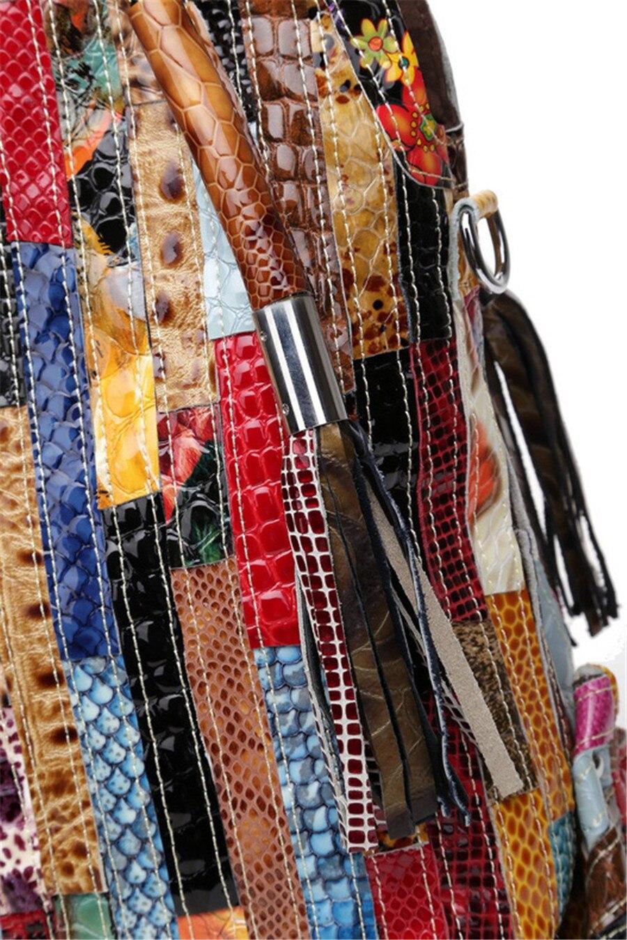 Sacs à main coloré en cuir véritable
