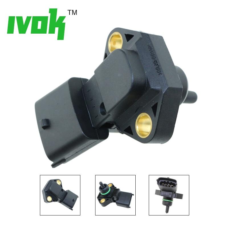 2.5BAR MAP Sensor, Intake Air Manifold Pressure For Land Rover Defender Cabrio Station Wagon Discovery II 2.5 Td5 MHK100640