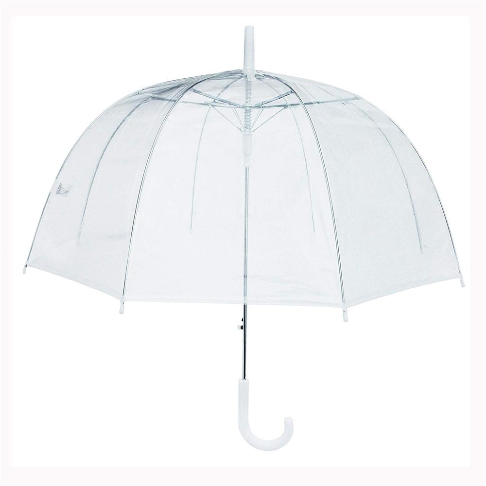 """10 قطع 34 """"كبيرة واضحة لطيف فقاعة العميق مظلّة على شكل قُبّة القيل والقال فتاة الرياح المقاومة شفافة مقبض طويل النساء مظلة-في مظلات من المنزل والحديقة على  مجموعة 2"""