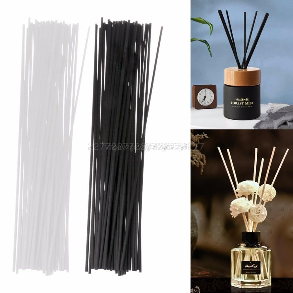 50Pcs 30cmx3mm Fiber Sticks Diffuser Aromatherapy Volatile Rod for Home Fragrance Diffuser Mr26 19 Dropship