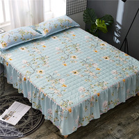 Bed skirt Multi color bed skirts Thick with cotton bed skirt bed covers king size bedspreads bedskirt plant print skirt