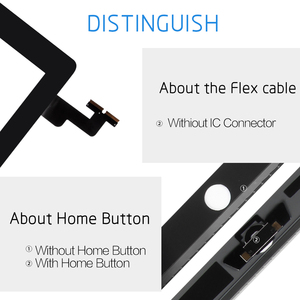 """Image 3 - 9.7 """"digitizer עבור iPad 2 מגע iPad2 A1395 A1396 A1397 מגע מסך Digitizer חיישן זכוכית פנל משלוח מסגרת לוח + לחצן בית"""