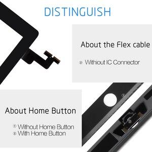 Image 3 - Dla iPad Mini 1 2 Mini 3 wysokiej jakości ekran dotykowy Digitizer zgromadzenia z klucza do domu przycisk i Home Flex kabel Mini1 Mini2 mini3