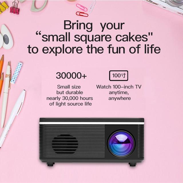 Salange S300 Pico Projector 500 lumen 3.5mm Audio 320x240 Pixels HDMI USB Mini Projector Home Media Player 5
