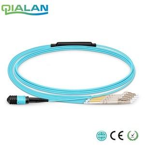 Image 1 - 3 m MTP MPO kabel krosowy OM3 kobiet do 6 LC UPC Duplex 12 włókien kabla Patch 12 rdzeni Jumper OM3 kabel typu Breakout, typ A, typ B
