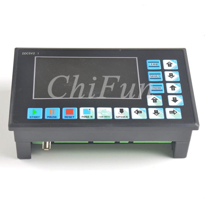 New DDCSV2 1 numerical control system Engraving machine 500khz 4 axis CNC system step servo MACH3