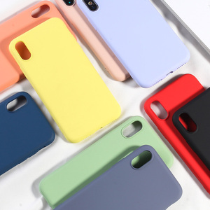 Image 5 - NEUE Einfache Candy Farbe Telefon Fall Für iPhone X XS MAX XR 7 8 Plus Weiche TPU Silikon Zurück Abdeckungen für iPhone 6 6 s Plus Fundas Capa