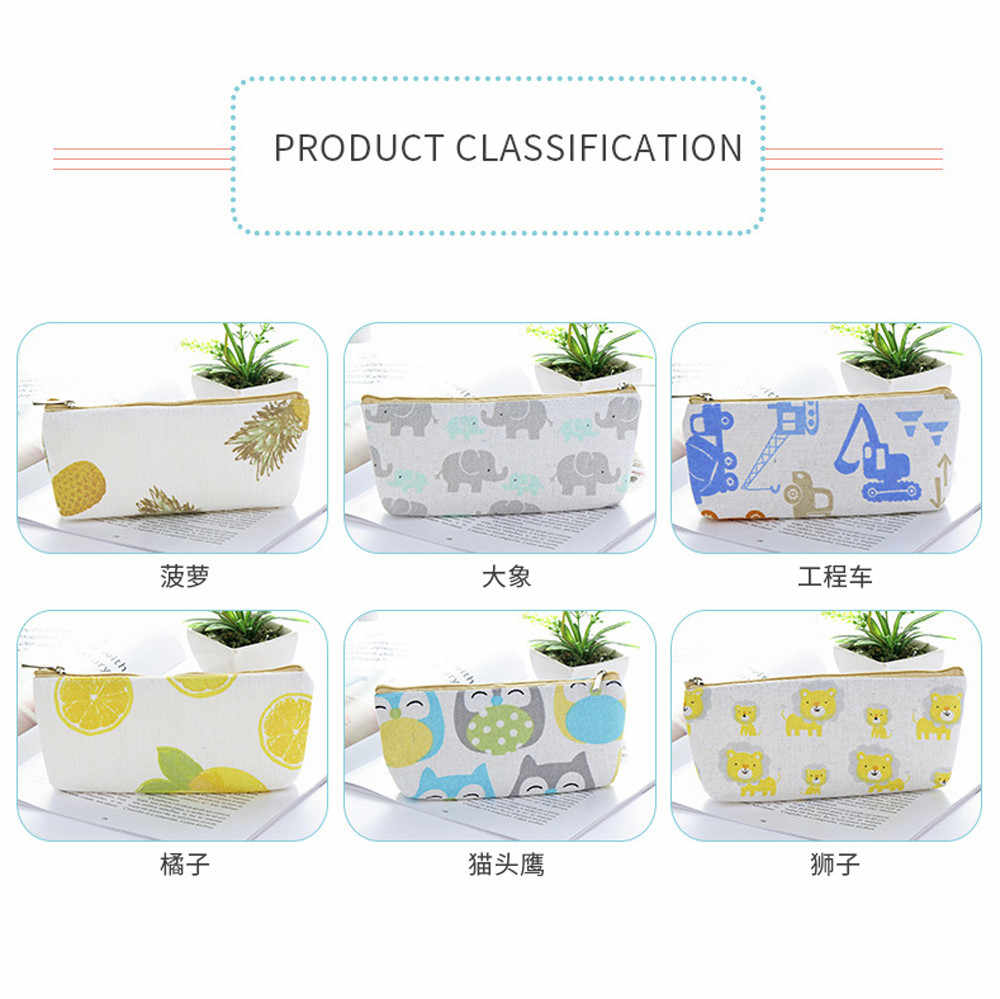 Creative Simple Large Capacity Student Stationery Pencil Case/Business Exquisite storage bag Schools & Offices Supplies