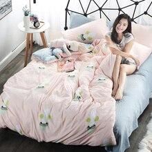 Duvet Cover Set Cartoon Bedding sets Twin Child boy Quilt Set,3/4 Pcs linens Sheet set Bedroom Fdinosaur