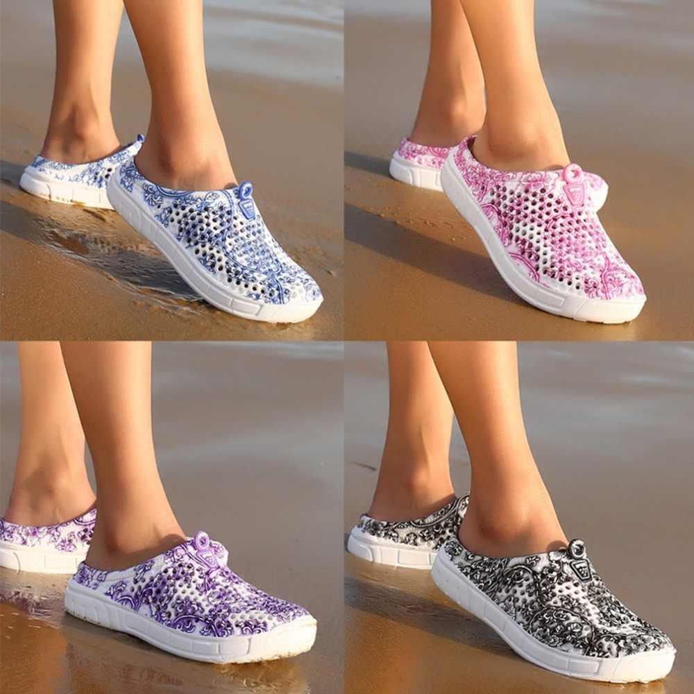 Fashion Ronde Neus Hollow Out EVA Vrouwelijke Sandalen Fashion Zomer Leisure Beach Schoenen Ademend Vrouwen Sandalen