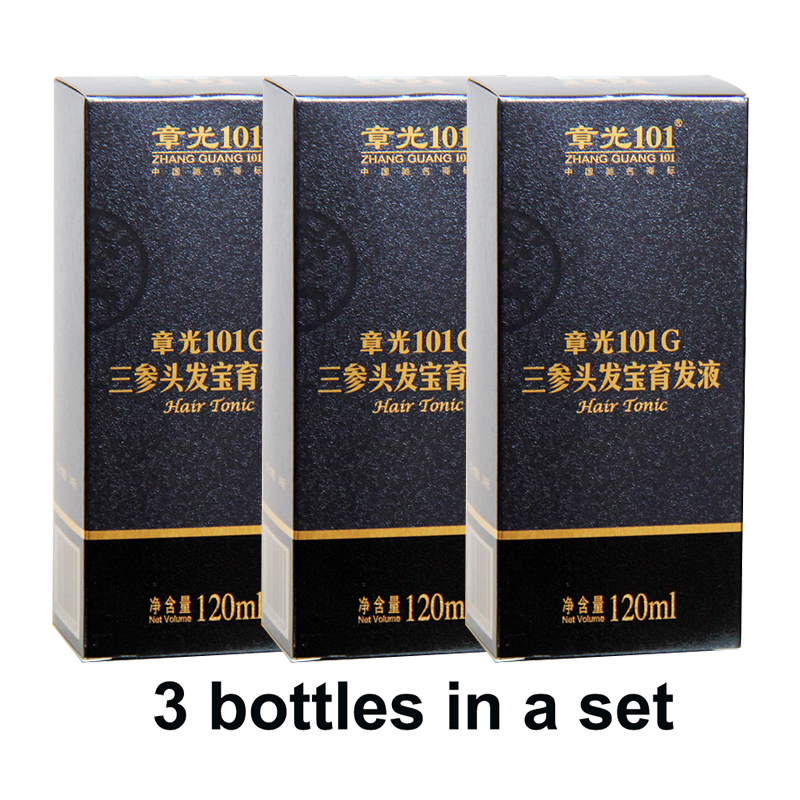 World famous Zhangguang 101G Hair Tonic 3X120ml Hair Treatment Essence Regrowth Chinese medicine therapy anti hair loss deoproce argan therapy hair essence