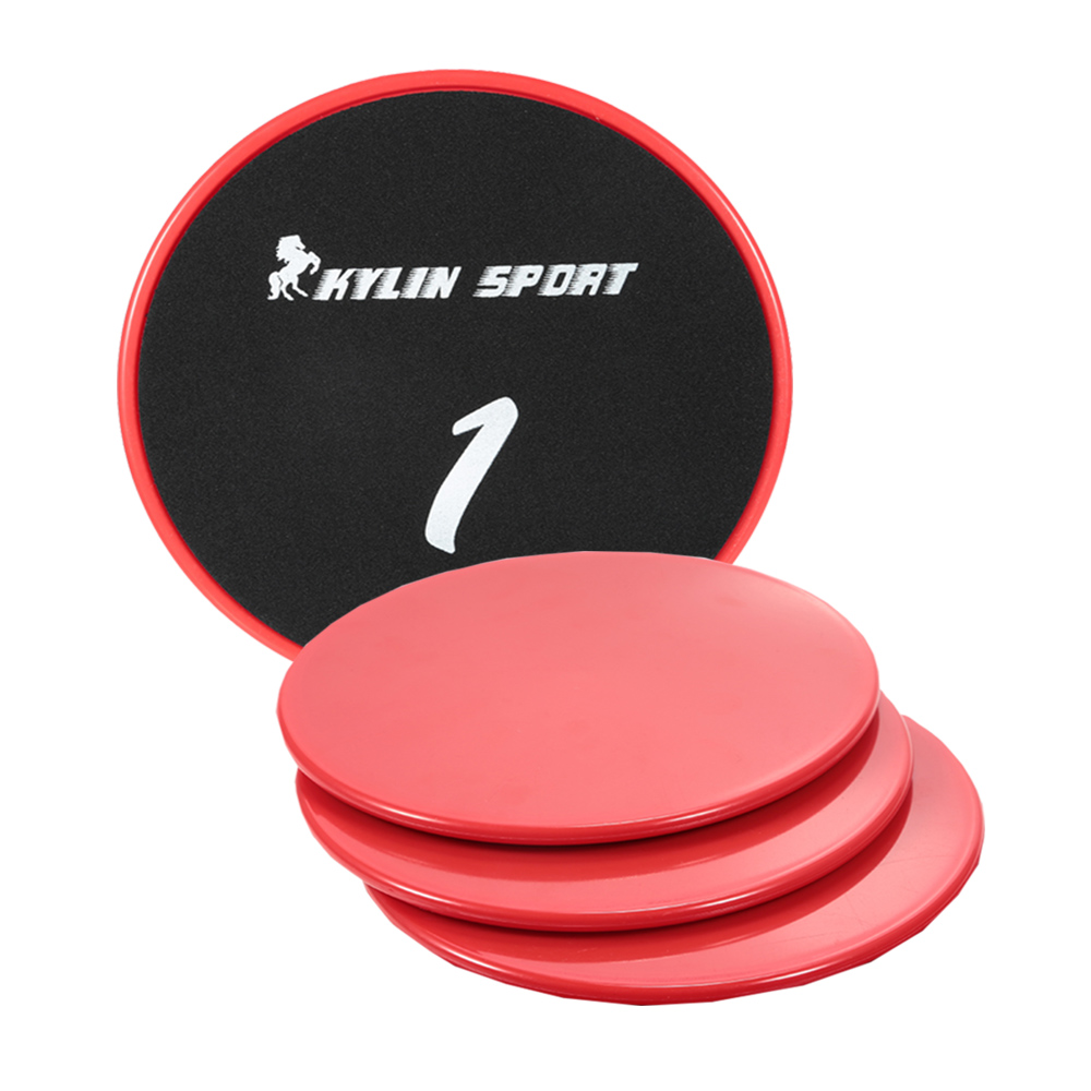 KYLIN SPORT 4Pcs Fitness Gliding Disc Exercise Sliding Plate For Gym Abdominal Exercise Equipment Gliding Disc Fitness Tools