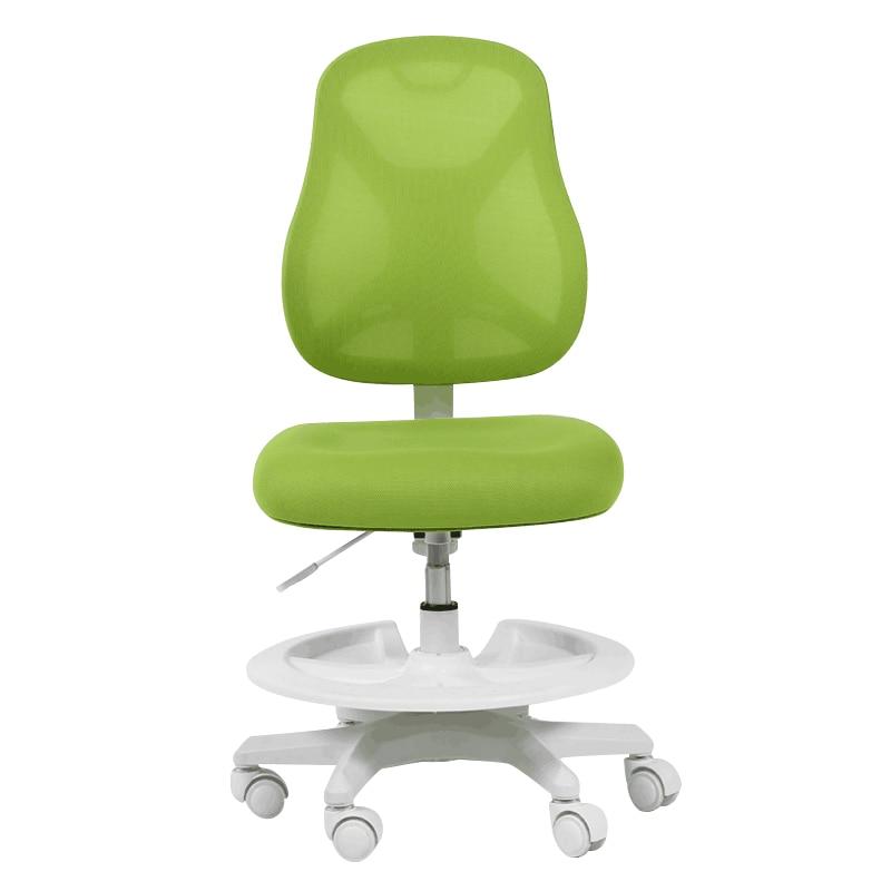 лучшая цена Kids Sitting Posture Correction Chair with Feet Pedal Lifted Household Student Study Stool Adjustable Soft Kids Computer Chair