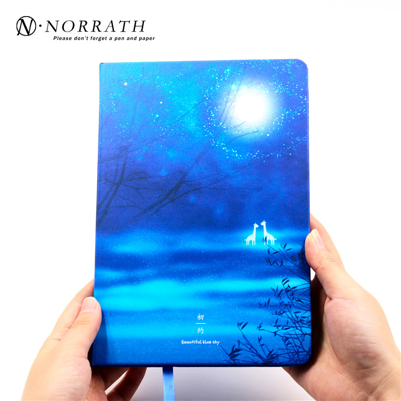 Night sky Journal Diary Hard Cover Lined Planner Study Notebook Memo Agenda Notepad Office School Gift Supplies high quality pu cover a5 notebook journal buckle loose leaf planner diary business buckle notebook business office school gift
