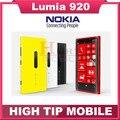 "Nokia lumia 920 original desbloqueado windows mobile phone dual core 32 gb 8.7mp 3g gps wi-fi 4.5 ""touchscreen remodelado"