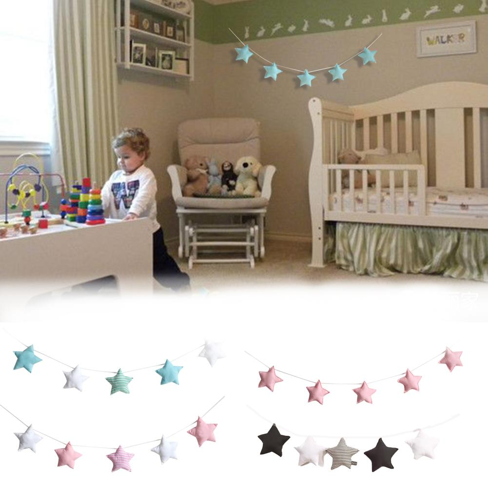 Ball Kids Room Decoration Nordic Wool Ball Tent Hanging Tent Decoration Nordic Stars Pendants
