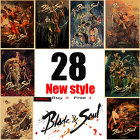 New Blade Soul core Game Vintage Poster Kraft Paper Home Wall Decor Paingting Wall Sticker Bar