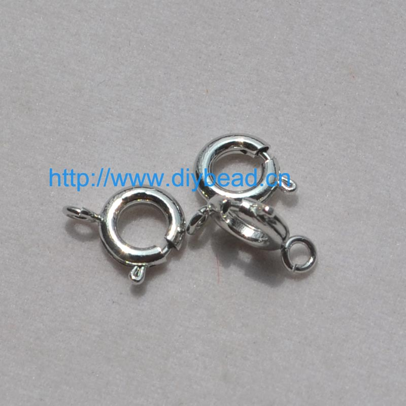 DIY jewelry findings & components,Bracelet Department,Copper Material Lobster Claps,10MM,Rhodium Plating