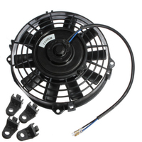 COTS Easy Install 7 Inch Electric Radiator Intercooler DC 12V 80W Slim Cooling Fan Fitting Kit