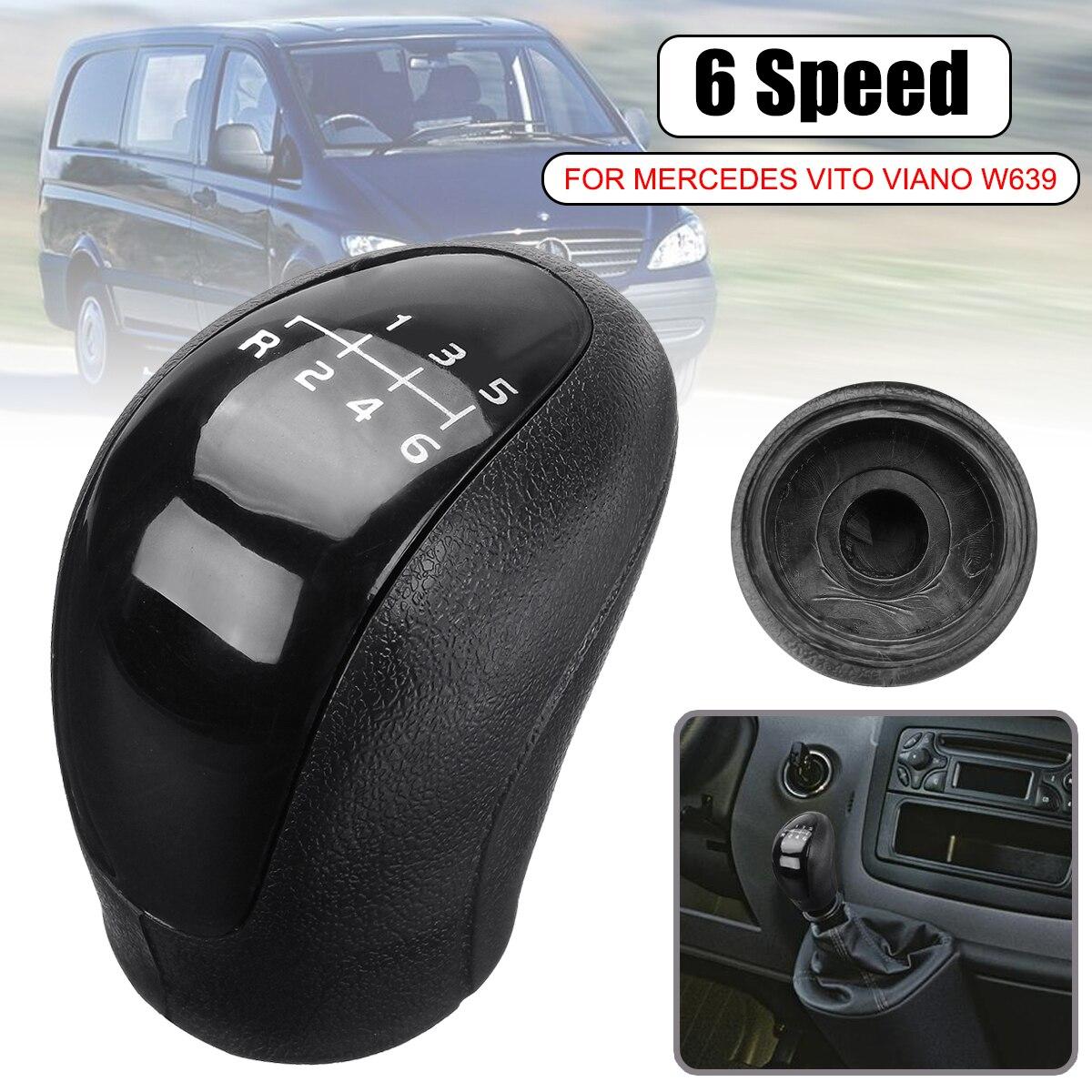 6 velocidade Do Carro Cabeça Da Shift de Engrenagem Knob Tampa Shifter Lever Vara para Mercedes Vito Viano Sprinter II VW/- crafter