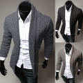 Free shipping 2014 new fashion Slim casual men's sweater solid color cardigan