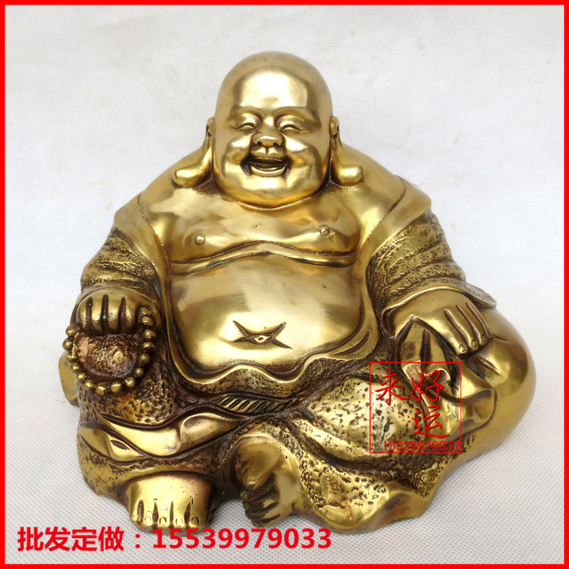 Online Shop Good luck to the opening of feng shui bronze Maitreya Laughing  Buddha statue Lucky evil town house ornaments Home Decorations | Aliexpress  ...