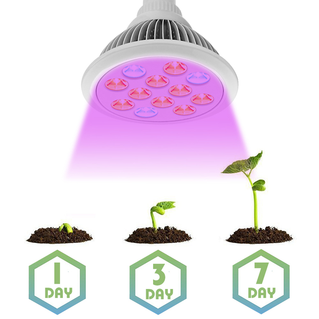 New 36W LED Grow Light Bulb for The growth of Plants Full Spectrum LED Fitolampy for Flowering Hydroponics System