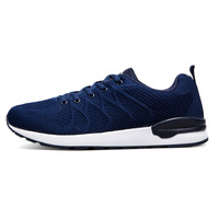 Fashion Shoes Air Cushion Boots Breathable Knitting Casual Boots Fly Line Trainers Zapatillas Casuals Shoes Men Boot Blue Black
