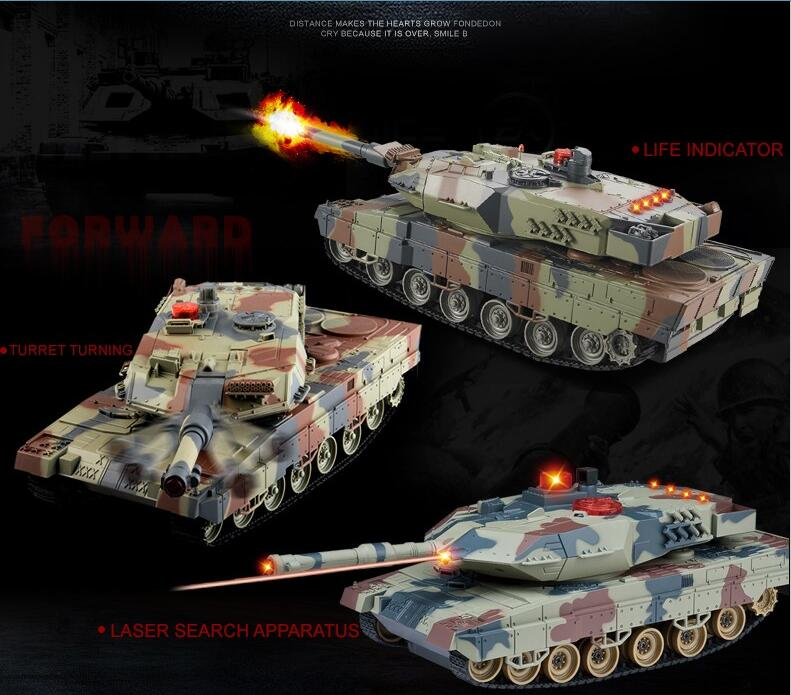 Remote con tank HQ516 1/24 large rc battle tank A6 Infrared Fighting tank remote control tank kids rc toy gifts vs KT002-4 new arrival rc tank infrared battle remote control rotate fighting car high quality models toys for kids intelliengence