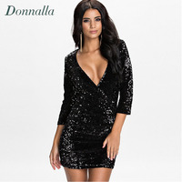 XS XXL Women Dresses Spring Summer New Fashion Sexy Bodycon Cocktail Party Paillette Dress Club Wear