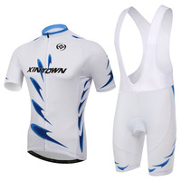 White Blue Team Cycling Jersey Bib Sets Bike Clothing Bib Suits Cycling Wear Shirts Mtb Jersey