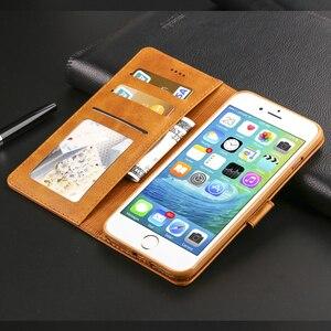 Image 4 - יוקרה עור Flip מקרה עבור iPhone 7 8 6 s 6 s בתוספת X XS Max XR 11 Pro מקסימום כיסוי כרטיס מחזיק ארנק מקרה עבור iPhone 5 5S SE