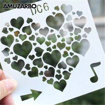 Multi-Style LOVE Theme Handmade Scrapbook Painting Template Simple Patterns Kids Copying Tools Album for Drawing Accessories image