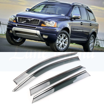 For VOLVO XC90 2010 2011 2012 2013 2014 Plastic Exterior Visor Vent Shades Window Sun Rain Guard Deflector 4pcs window visor vent shades sun rain guard for toyota prado fj120 2003 2009
