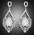 2016 Novas Mulheres Da Moda Jóias de Casamento de cristal Austríaco longo gota de cristal grande cristal brincos de noiva para mulheres grandes brincos