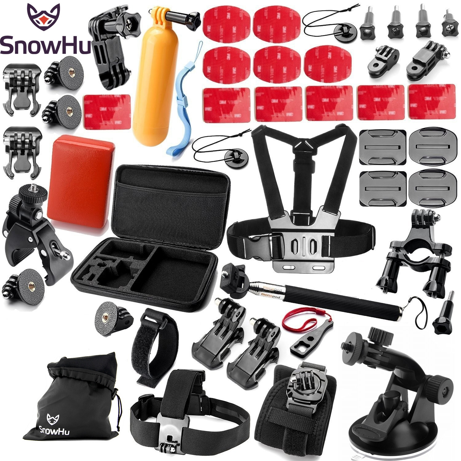SnowHu For GoPro Accessories Harness Adjustable Elastic Chest Belt Head Strap For Go Pro Hero 6 5 5S 4 3 3+ For Xiaomi yi Y14 dz 313 elastic head strap head belt for gopro hero 4 3 2 1